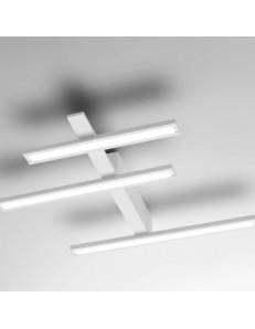Review media plafoniera Led design 34w dimmerabile bianca