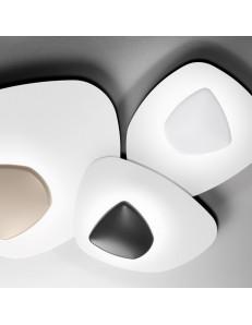 Blob small plafoniera Led design 38w dimmerabile bianco nero tortora