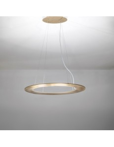 Drop lampadario Led ovale 60w dimmerabile bianco oro tortora acciaio bronzo
