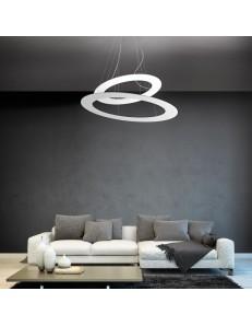 Drop s2 lampadario Led doppio ovale 140w soggiorno dimmerabile bianco oro tortora acciaio bronzo