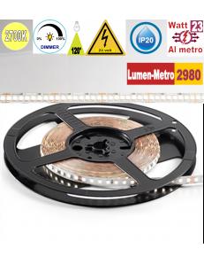 Stricia LED 23w 2700k bobina 5mt dimmerabile IP20 adesiva flessibile 224 led metro