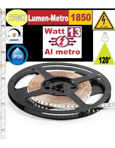 Stricia LED 13w 2700k bobina 5mt dimmerabile IP20 adesiva flessibile 128 led metro