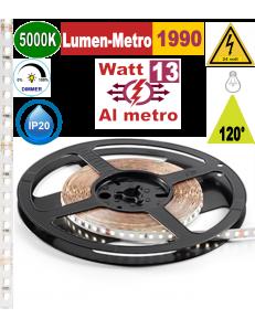 Stricia LED 13w 5000k bobina 5mt dimmerabile IP20 adesiva flessibile 128 led metro