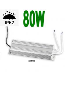 Alimentatore 80w 24v strisce LED da esterno IP67