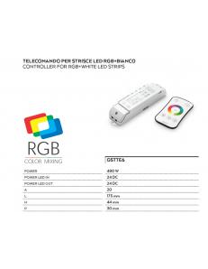 Controller e telecomando RGB + bianco onde radio touch per strisce led