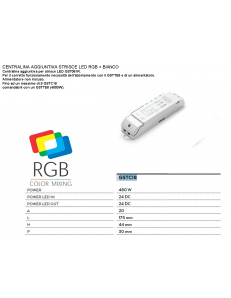 Centralina 480w aggiuntiva RGB + bianco 24v per strisce led