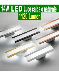 Rail piccola Applique LED 14watt 1120 lumen 3000k 4000k vari colori