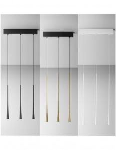 GEA LUCE: Dafne piccola sospensione 3 luci LED 16.5w lampada bianco oro o nero luce calda Gea luce