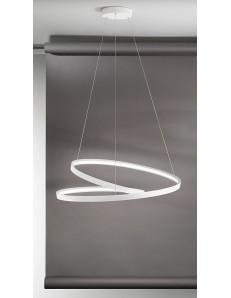 Ritmo Sospensione LED moderna 70w bianca