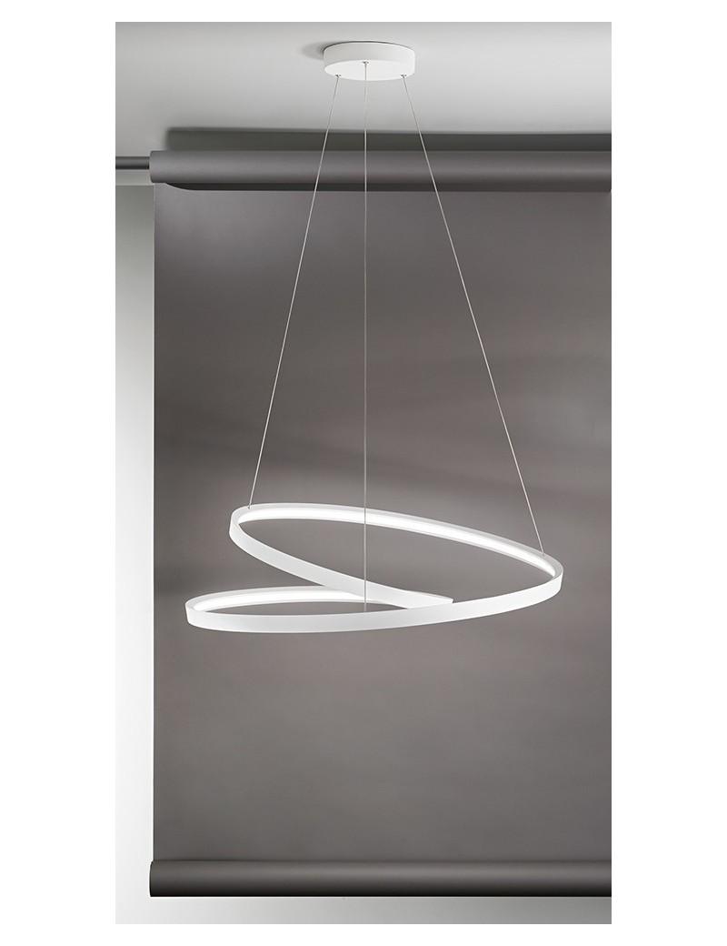 PERENZ: Ritmo Sospensione LED moderna 70w bianca in offerta