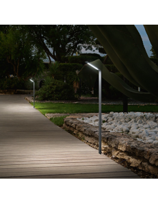 Agos pt big 3000k palo paletto led 6.5watt IP54 esterno illuminazione giardino antracite 80cm