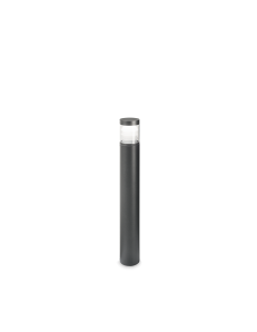 Lyra pt round 3000k paletto led 10watt IP65 esterno illuminazione giardino antracite 65cm
