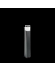 Lyra pt square 3000k paletto led 10watt IP65 esterno illuminazione giardino antracite 65cm