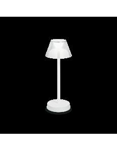 Lolita lampada da tavolo LED 7watt a batteria bianca ricaricabile touch dimmerabile