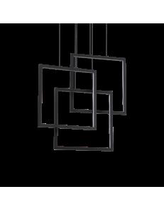 Frame lampadario led 80 watt quadrati neri regolabili design
