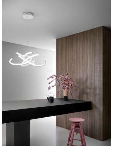 Cinzia lampadario moderno Ø74 led dimmerabile 46watt luce calda Gea luce