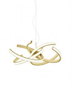 Cinzia lampadario oro stilizzato Ø74 led dimmerabile 46watt luce calda Gea luce
