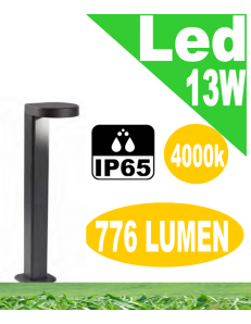 Stril lampioncino led 13w antracite da giardino h50 antracite ip65 moderno