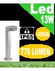 Stril lampioncino led 13w grigio da giardino h50 antracite ip65 moderno