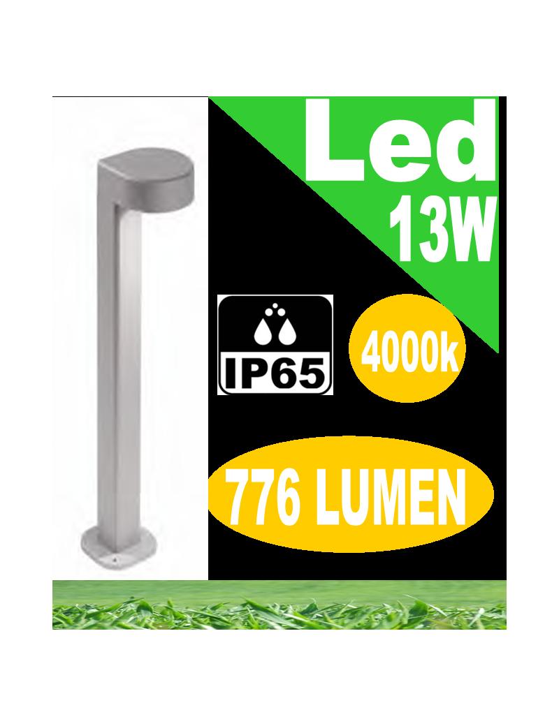 Stril lampione led 13w grigio da giardino h80 antracite ip65 moderno