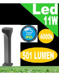 Varp lampioncino led 11w antracite da giardino h50 ip65 moderno