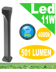 Varp lampione big led 11w antracite da giardino h80 ip65 moderno