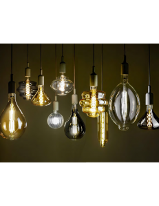 Lampadina decorativa LED E27 2700k vetro fume o ambra dimmerabile vari formati