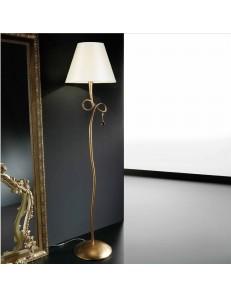 Paola piantana lampada oro classica con paralume crema